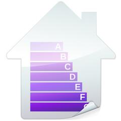 Sticker bilan carbone des bâtiments