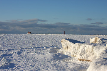 Great Lakes Lighthouses in winter