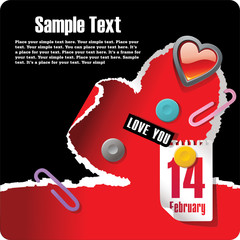 Valentines stationery postcard