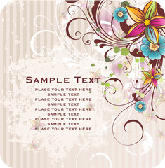 background with banner for your text  flowers
