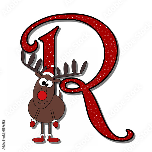 Yuletide Alphabet - R (Rudolph The Red Nose Reindeer)