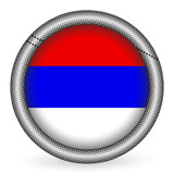 Serbia flag button poster