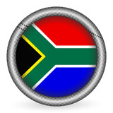 South Africa flag button poster