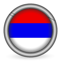 Serbia flag button
