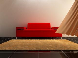 Interior design - Red Sofa
