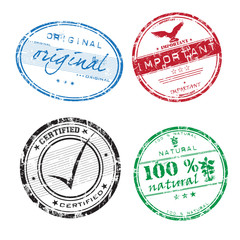 Colorful grunge rubber stamps