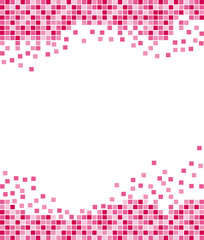 Pink mosaic background