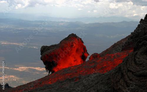 Lavafluss am Vulkan Pacaya, Guatemala