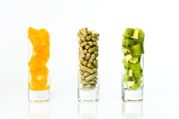gelule vitamine alimentation complément fruit régime pilule natu