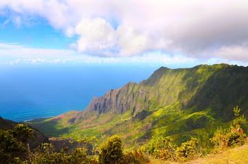 Kalalau Valley on north coast of Kauai, Hawaii