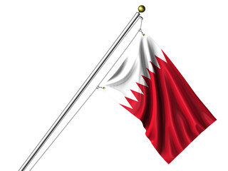 Isolated Bahraini Flag