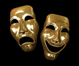 Drama and comedy masks poster