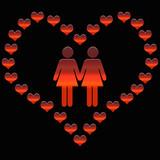 dia de san valentin lesbianas poster