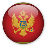 Montenegro Flag button poster