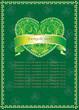 Schöne  grüne Valentine