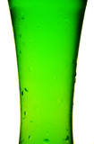 Glass with cold green beverage poster