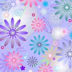Abstract   beautiful  floral background