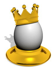 egg with crown in eggcup