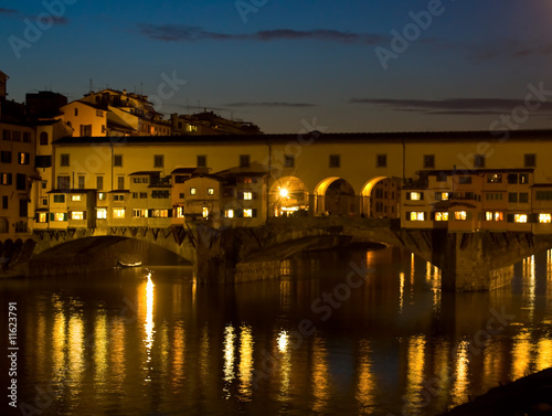 poster of Ponte Vecchio By Night - Florence, Italy