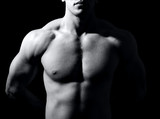 Body of man with muscular fit torso - 11624580