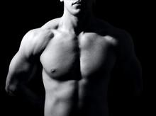 Muskularny mężczyzna tułowia