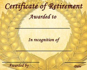 certificate of retirement