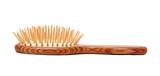 Wooden hairbrush poster