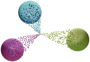 Tre sfere colorate