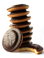 Jaffa cakes - traditional sweet cookies