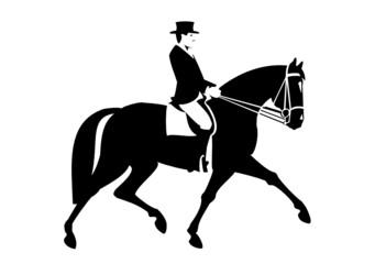 Piktogramm Dressurreiter