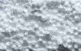 Macro of white plastic foam poster