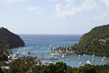 St Lucia island in the Caribbean