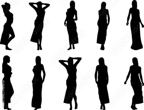 Silhouettes Of Women. sexy women silhouettes wearing