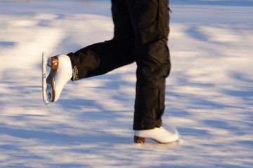 ice skating motion blur