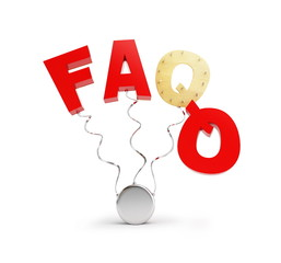 faq on a white background