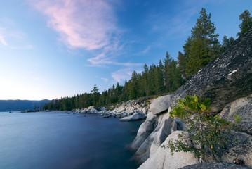Lake Tahoe Coast at Sunset