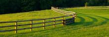"Постер, картина, фотообои ""Farm Field and Fence"""