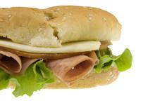 Biedny chłopiec sandwich