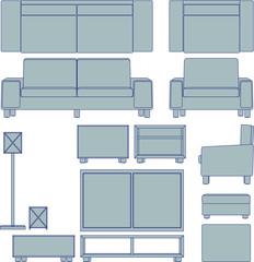 Blueprint living room furniture