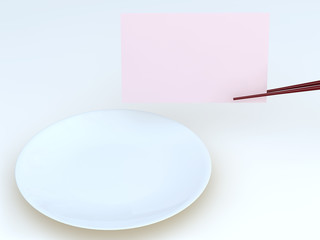 chopstick,dish and memo2