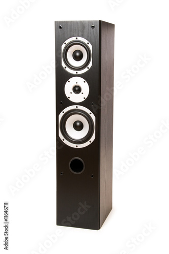 Tall speaker isolated on the white background