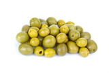 Small pitted and giant olives poster