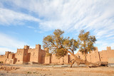 Moroccan Kasbah in Atlas Mountains poster