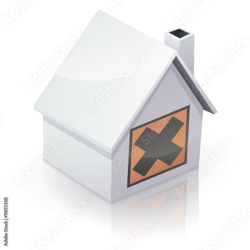 maison blanche et pollution int rieure reflet fichier vectoriel libre de droits sur la. Black Bedroom Furniture Sets. Home Design Ideas