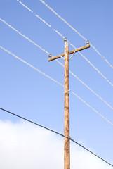 Hoar Frost on Power Lines