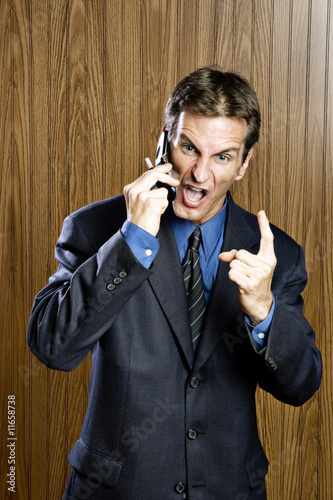 Poster Angry businessman