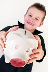 piggy bank boy
