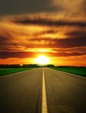 speed road leaving in sundown poster