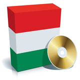 Hungarian software box and CD poster