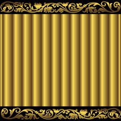 Golden and coffee abstract background (vector)